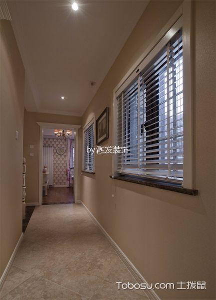 玄关橙色走廊新中式风格装潢设计图片