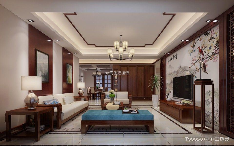 馥邦天下中式风格4室2厅2卫装修效果图