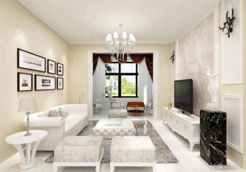 2019欧式90平米效果图 2019欧式三居室装修设计图片