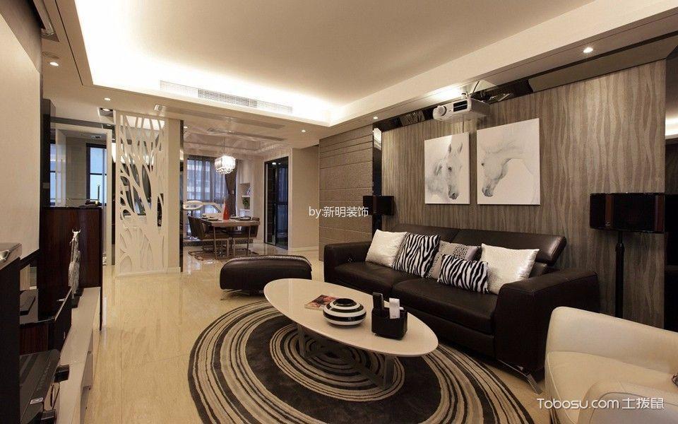 武汉天街132平三居室半包装修设计图