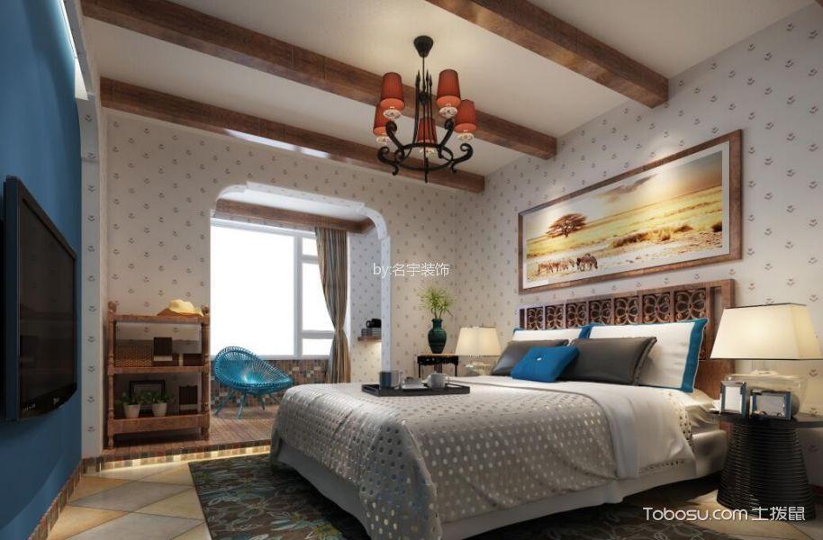 绿地长岛现代美式二居室效果图