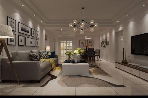 2021现代90平米效果图 2021现代三居室装修设计图片