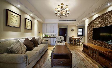 华润橡树湾美式三室两厅效果图