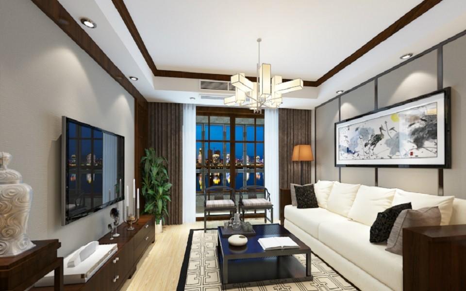 3室1卫2厅140平米新中式风格