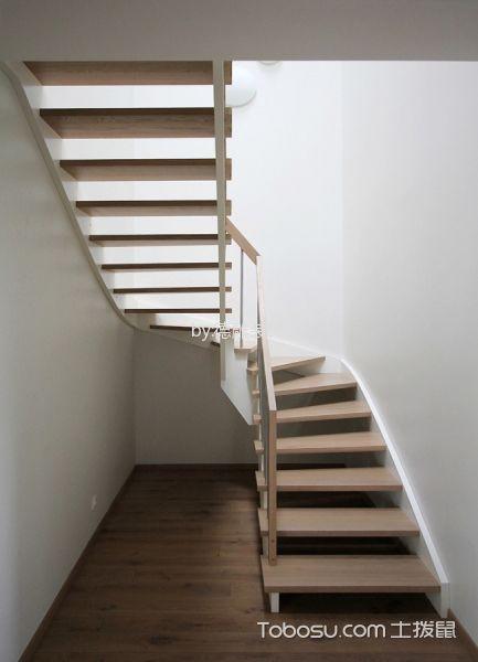 玄关咖啡色楼梯现代风格装潢图片