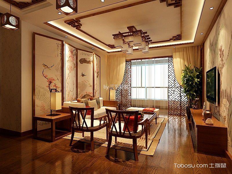 太阳城120平新中式风格效果图