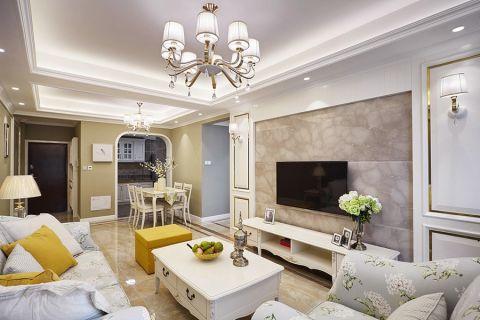 简欧风格80平米两室两厅新房装修效果图图片