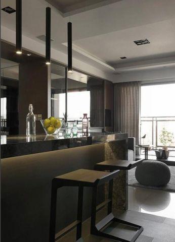 客厅吧台现代简约风格装潢效果图