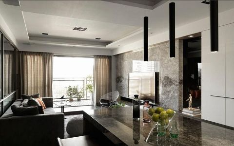 欧林湾三居室现代简约风格装修效果图