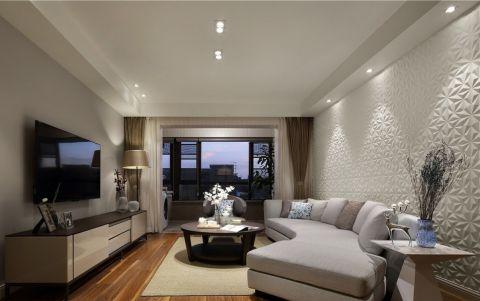弘建一品现代风格三居室效果图