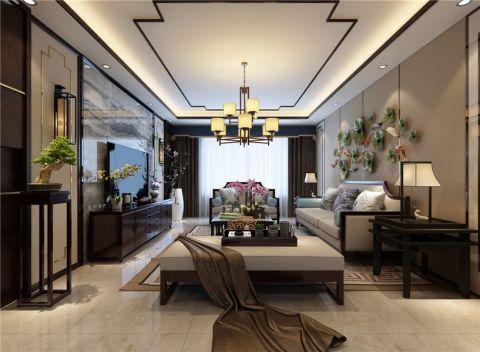 客厅背景墙新中式风格装饰效果图
