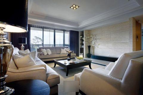 灰色120—180平米现代简约四房两厅装修效果图