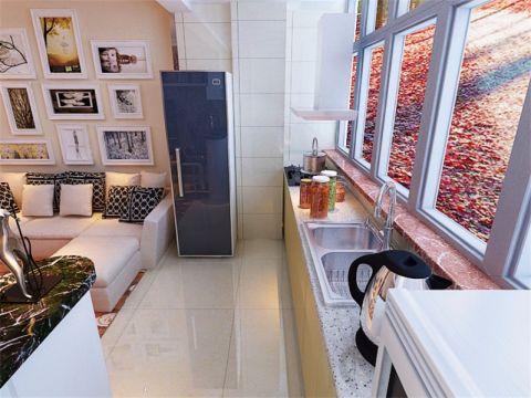 厨房吧台现代简约风格装修设计图片
