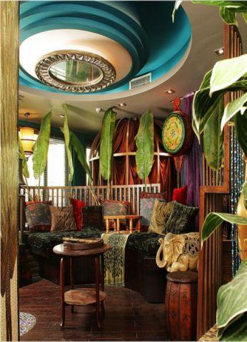 东南亚风格180平米大户型室内装修效果图