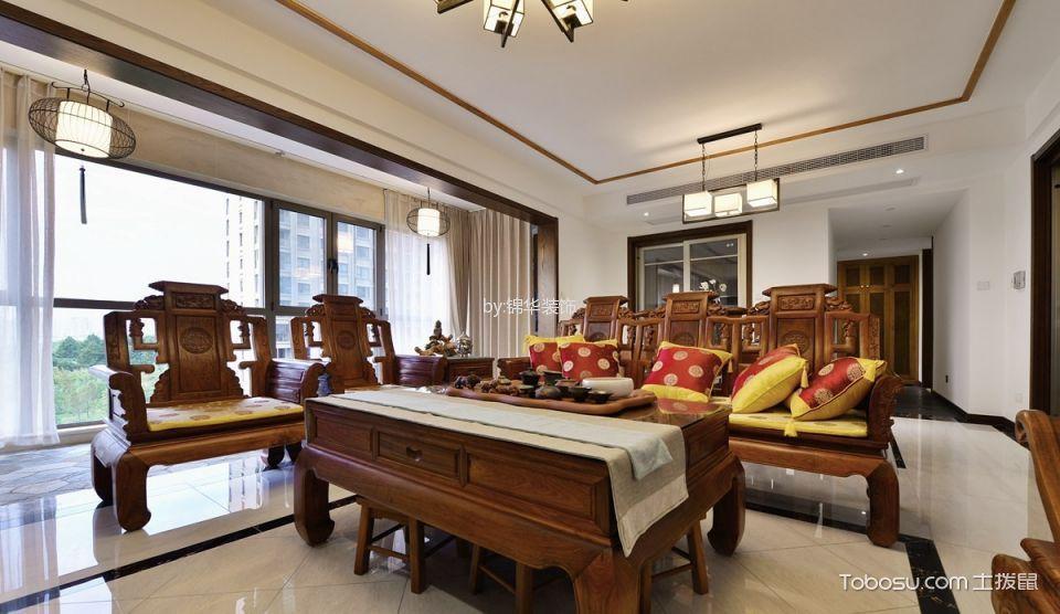 太湖国际凯旋门中式四室两厅风格实景