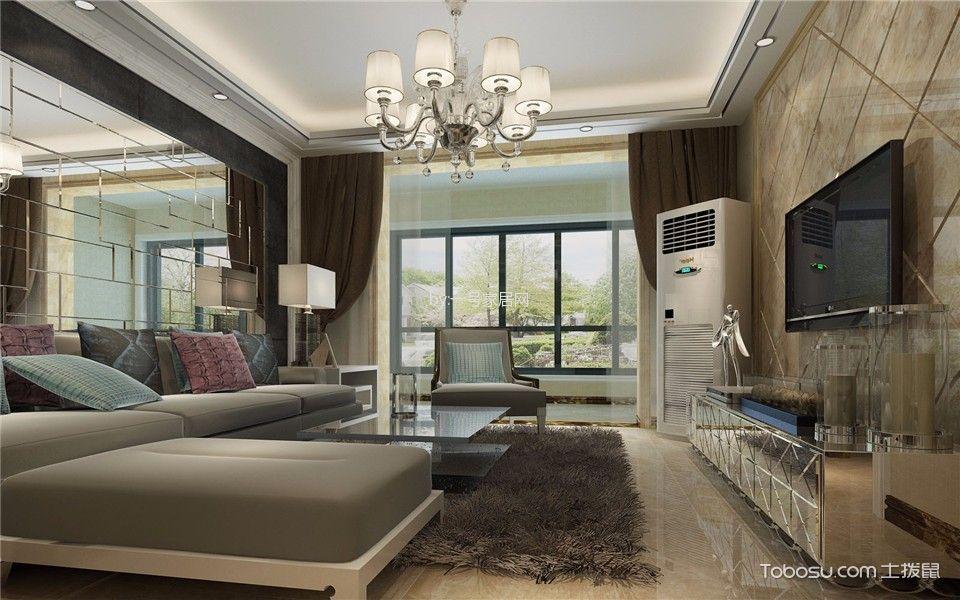 泰来怡居三室两厅现代风格的效果图