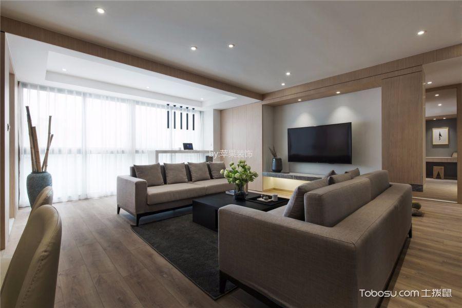 客厅灰色沙发简单风格装潢图片