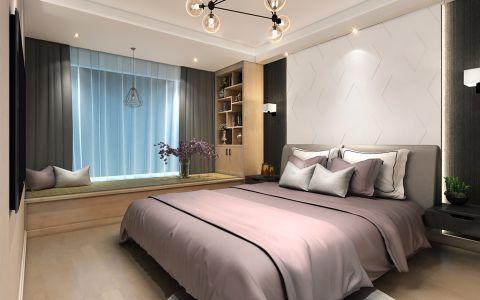 风雅卧室窗帘装潢效果图