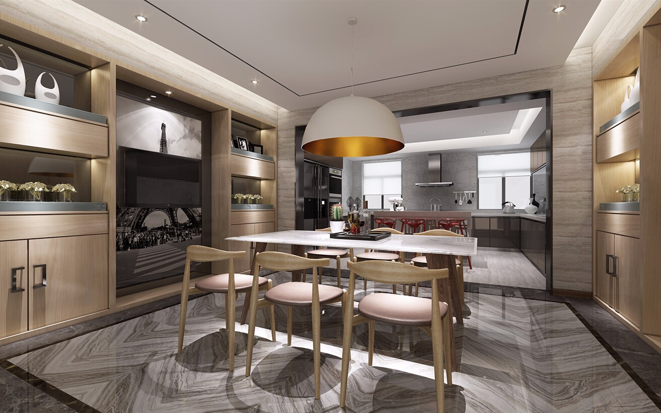 5室3卫4厅240平米现代简约风格