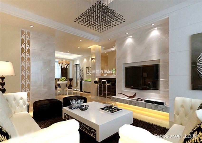 朝阳江上院三居室现代风格效果图