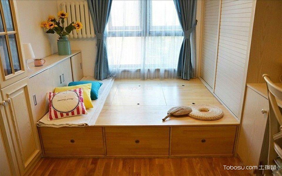 儿童房咖啡色榻榻米新中式风格装潢设计图片