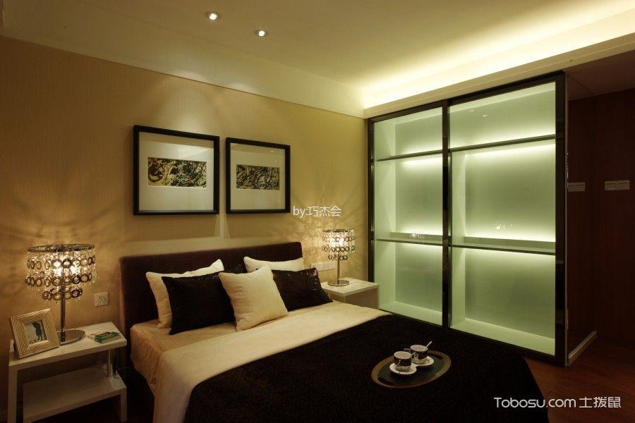 卧室黄色照片墙现代简约风格装饰设计图片