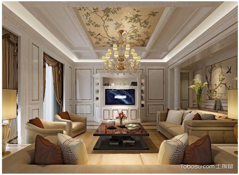 格调咖啡色客厅装饰图