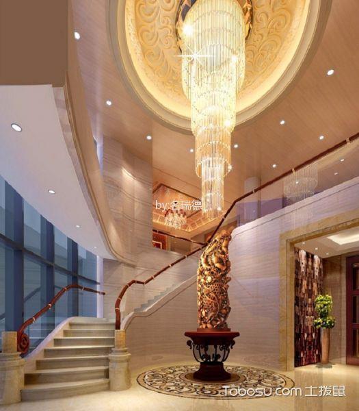中式风格粤菜馆入户玄关装饰效果图