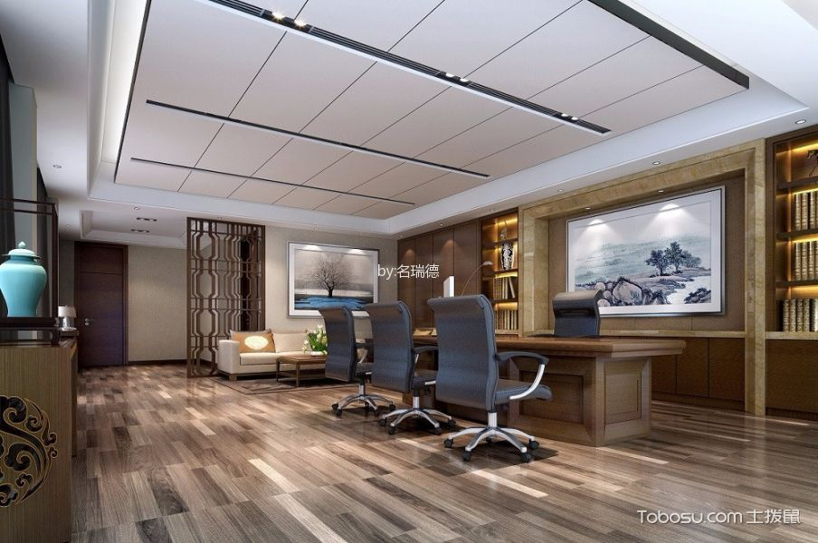 售楼处现代奢华经济办公室装饰效果图欣赏