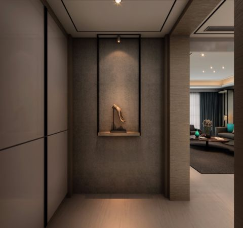 玄关背景墙古典风格装饰效果图