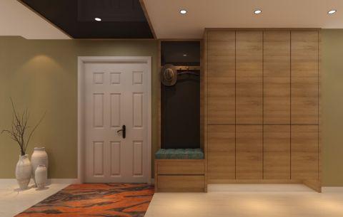客厅隐形门简约风格装潢设计图片