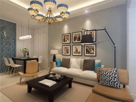 现代客厅照片墙装修