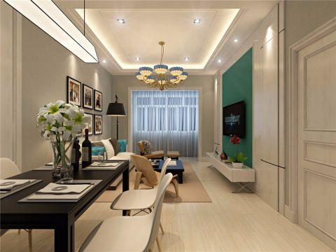 客厅米色窗帘现代风格装饰图片