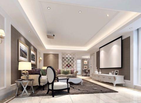 客厅白色电视柜简欧风格装修效果图