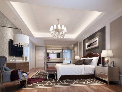 卧室红色床简欧风格装饰效果图