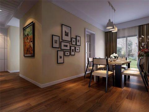 东方蓝海现代风格三居室装修效果图