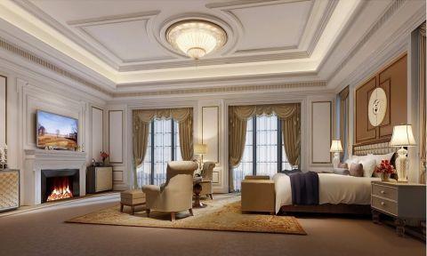 干净白色卧室平面图