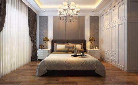 卧室背景墙古典风格装潢图片