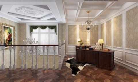 客厅背景墙古典风格装潢设计图片