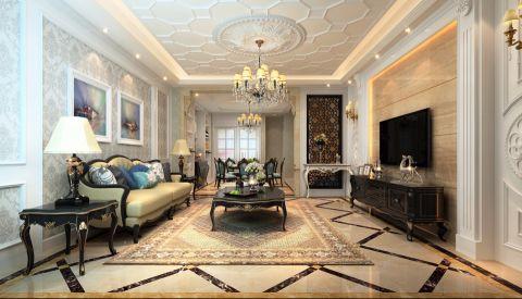 客厅吊顶经典风格装潢图片