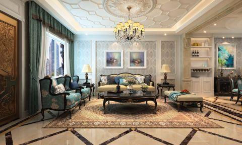 客厅窗帘经典风格装修设计图片