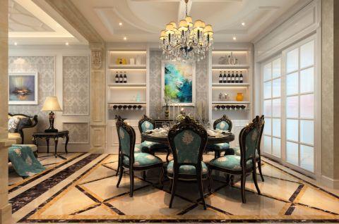 餐厅背景墙经典风格装饰设计图片