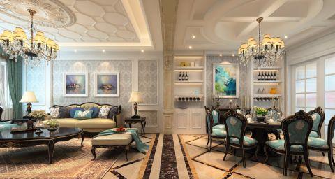 客厅背景墙经典风格装潢设计图片