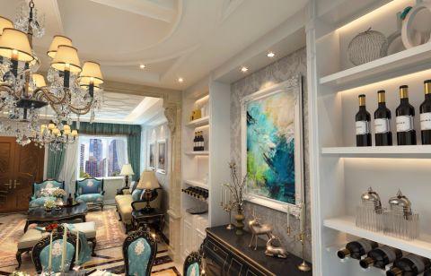 客厅博古架经典风格装饰效果图