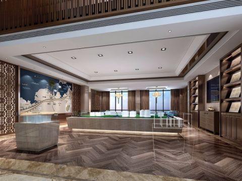 紫金广场售楼处现代奢华工装装修效果图