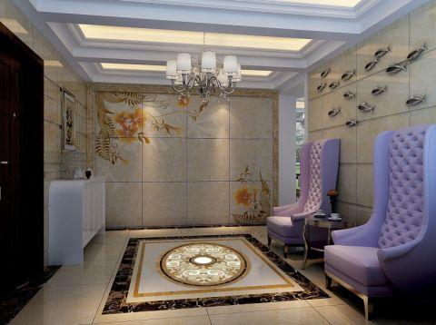 玄关背景墙欧式风格装潢设计图片