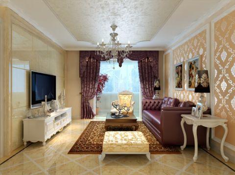 恒基水漾花城欧式风格三居室效果图