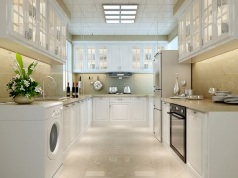 厨房背景墙欧式风格装修设计图片