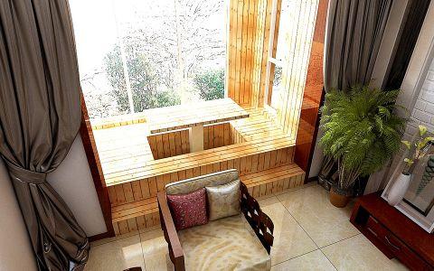 阳台窗帘简约风格装潢设计图片