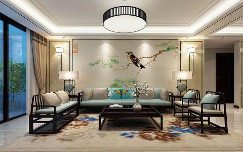 世纪雅苑三居室中式风格效果图